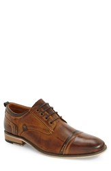 Steve Madden Men's Jamyson Cap Toe Derby Tan Leather