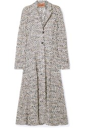 Missoni Crochet Knit Coat Black