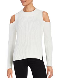 French Connection Knit Cold Shoulder Sweater Natural