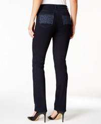 Charter Club Lexington Embroidered Straight Leg Jeans Only At Macy's Rinse Wash