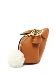 Loewe Bunny Leather Purse Charm Tan