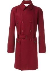 Romeo Gigli Vintage Belted Coat Red