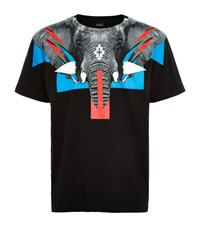 Marcelo Burlon Renca Elephant T Shirt Male Black