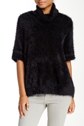 Cullen Foxy Turtleneck Blanket Sweater Black