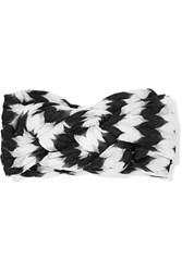 Missoni Crochet Knit Headband Black