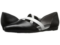 Lifestride Quell Black White Women's Dress Flat Shoes