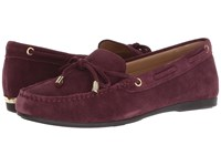 Michael Michael Kors Sutton Moc Oxblood Sport Suede Shoes Burgundy
