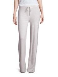 St. John Sport Collection Cashmere Drawstring Pants Oyster Multi