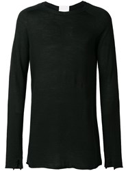 Lost And Found Ria Dunn Distressed Knitted Top Black