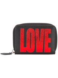 Givenchy Mini Love Printed Zip Wallet Black