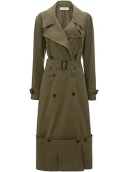 J.W.Anderson Jw Anderson Fold Up Hem Trench Coat Green