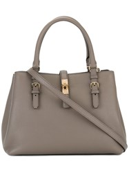 Bally Double Handles Tote Brown