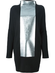 Gianluca Capannolo Oversize Two Tone Sweater Black