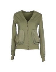 Patrizia Pepe Love Sport Sweatshirts Military Green