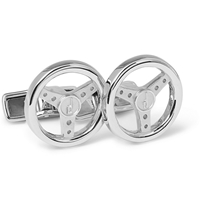 Alfred Dunhill Steering Wheel Silver Cufflinks
