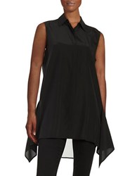 Dkny Sleeveless Asymmetrical Blouse Black