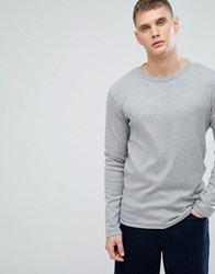 Lindbergh T Shirt With Long Sleeves In Grey Grey