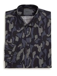 Sand Regular Fit Camo Print Dress Shirt