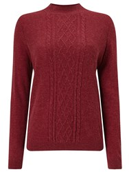 Eastex Cable Turtle Neck Jumper Red