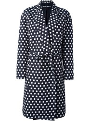 Rochas Polka Dot Coat Black