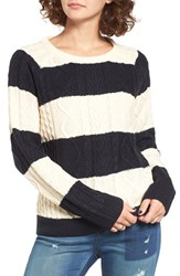 Obey Women's Freja Rugby Stripe Cable Pullover