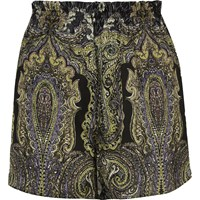 River Island Womens Green Paisley Print Causal Shorts