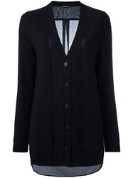 Ann Demeulemeester Sheer Back Cardigan Black
