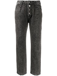Sjyp Stonewashed Cropped Jeans 60