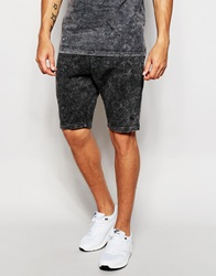 Antioch Shorts In Acid Wash Black