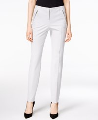 Alfani Petite Zip Pocket Skinny Ankle Pants Only At Macy's New City Silver