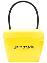 Palm Angels Printed Logo Tote Bag Yellow And Orange