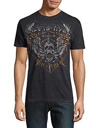 Affliction Graphic Cotton Tee Black Lava