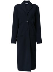 Jil Sander Single Breasted Coat Blue