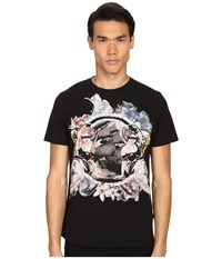 Just Cavalli Pin Up Girl Graphic Short Sleeve Tee Black