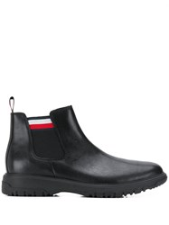 Tommy Hilfiger Cleated Sole Ankle Boots Black