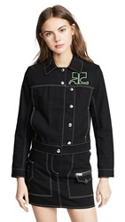 Courreges Jacket With Asymmetrical Buttons Black