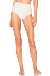 Aila Blue Cabana High Waisted Bottom White
