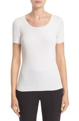 St. John Women's Collection Isla Rib Knit Top