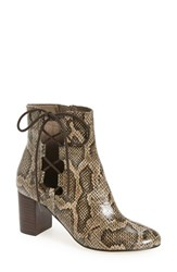 Bella Vita Women's 'Kirby' Bootie Natural Snake Print Leather