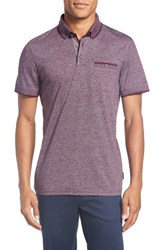 Ted Baker Men's Big And Tall London Trim Fit Polo Purple