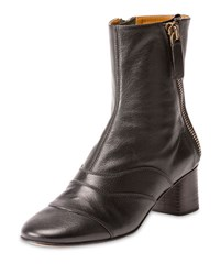 Chloe Side Zip Leather 50Mm Ankle Boot Black