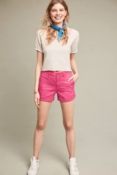 Anthropologie Relaxed Chino Shorts Raspberry