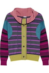 Loewe Striped Wool Blend Sweater Purple