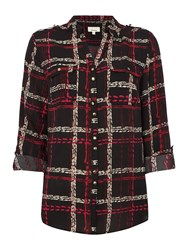 Linea Military Printed Shirt Check
