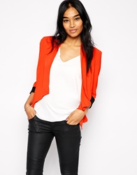 Ax Paris Waterfall Blazer Orange