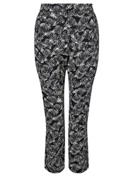People Tree Monica Trousers Black White
