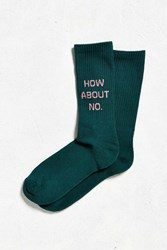 Urban Outfitters How About No Sport Sock Dark Green