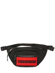 Givenchy Logo Nylon Belt Pack Black Red