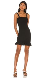 Krisa Smocked Tank Mini Dress In Black.