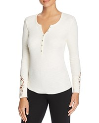 Pj Salvage Rib Long Sleeve Henley Top Natural